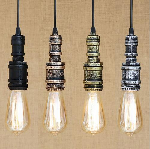 American Retro Industrial Wind Simple Creative Personality Western Restaurant Bar Counter Cafe Water Pipe Pendant Lights TA10136 modern scandinavian american retro industrial wind broken iron pendant lights bar restaurant creative combination lamplu718124