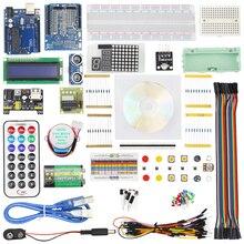 Новый starter kit шаг Двигатель Servo 1602 ЖК-дисплей фоторезистор HC-SR04 Батарея клип макет джемпер Провода UNO R3 для Arduino
