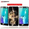 Protector de pantalla de cristal para xiaomi redmi note 3 frontal del teléfono móvil volver soft pe película 9 h dureza vidrio templado ultra-delgado