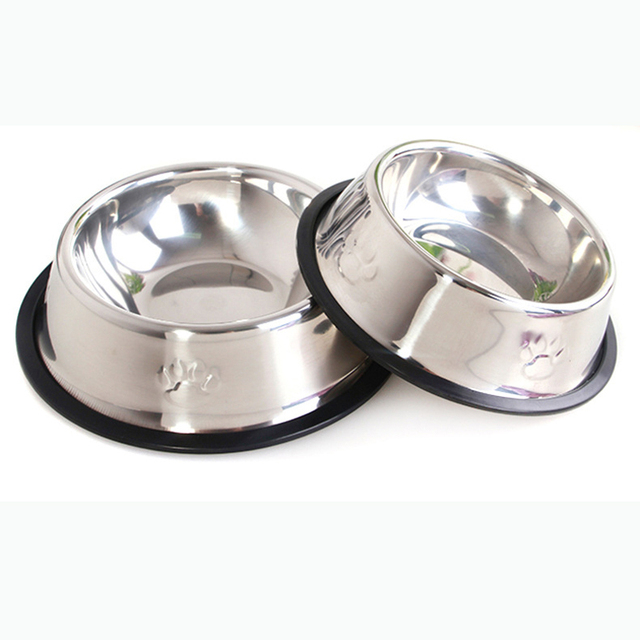 6 Sizes Metal dog cat food bowl cat dish stainless steel dog bowl Food  Holder Water Feeder Feeding Dish 4f61bf609