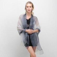 Luxury Autumn Summer Women Scarf Long Soft Wrap Ladies Shawl Solid Silk Scarves Fashion Femme Foulard Hijab Beach Towel