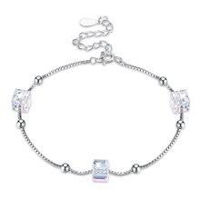 Модные квадратные браслеты с кристаллами для женщин темпераментные