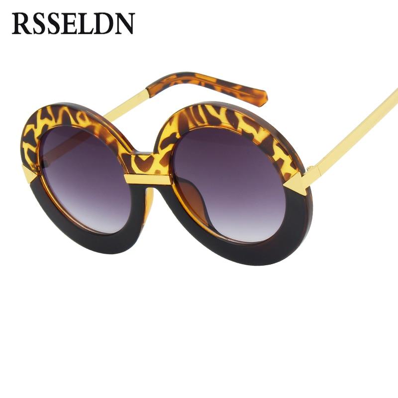 e4b09fe6347c Aliexpress.com : Buy RSSELDN 2018 New Style Brand Women Round Sunglasses  Women Famous Brands Retro Fashion Oversize Arrow Mirror Glasses Oculos  UV400 from ...
