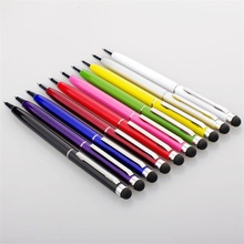 Mini Stylus Touch Screen Pen Universal Built-In Ballpoint Pen 2 In 1 For iPhone iPod Samsung Galaxy Tablet PC Smartphones