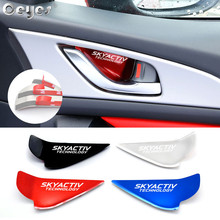 Ceyes Car Chrome Styling Accessories Door Handle Wrist Bowl Trim Sticker Case For Mazda Skyactiv Technology CX 5 CX5 CX3 6 Axela