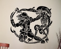 Alien Vs Predator Vinyl Sticker Retro Movie Poster Wall Art Decals Home Interior Design Bedroom Dorm
