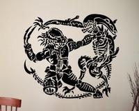 Alien Vs Predator Vinyl Sticker Retro Movie Poster Wall Art Decals Home Interior Design Bedroom Dorm