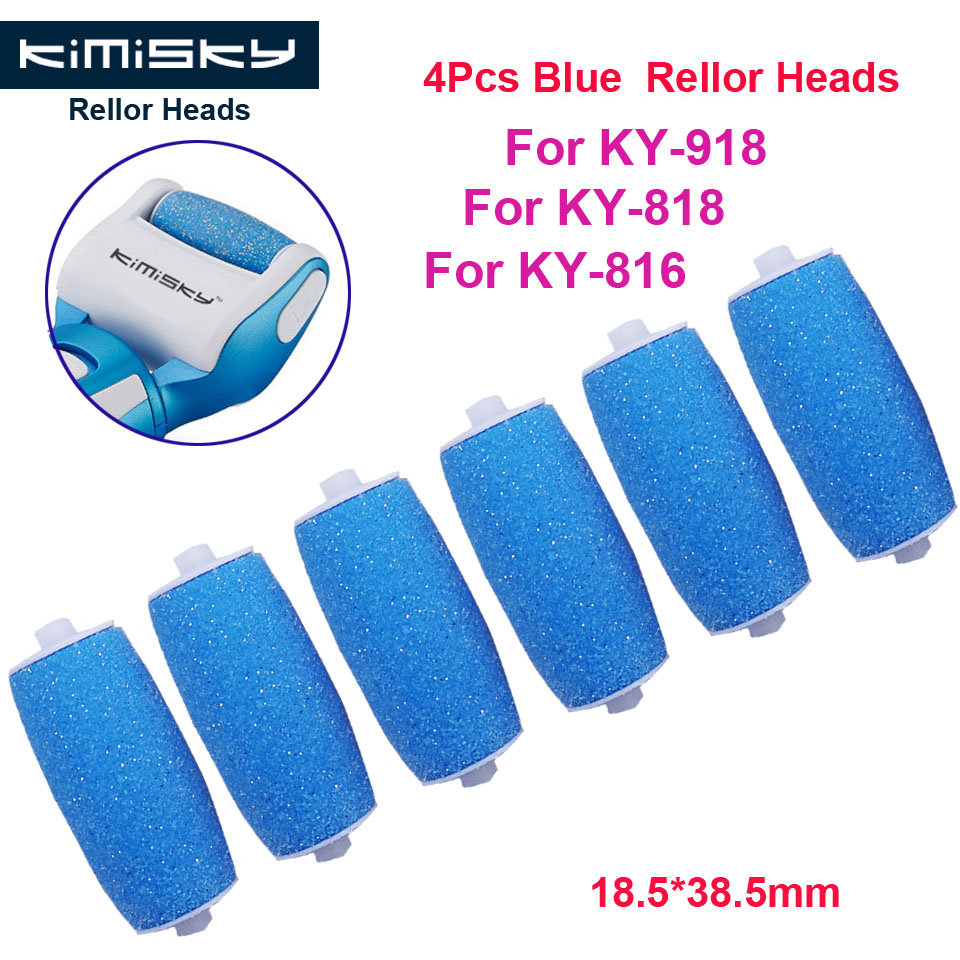 Kimisky Blue Foot Care Tool Roller Heads Pedicure tools Herramientas Hard Foot File Roller Heads for 6Pcs KY-816/818 Pies Callos image