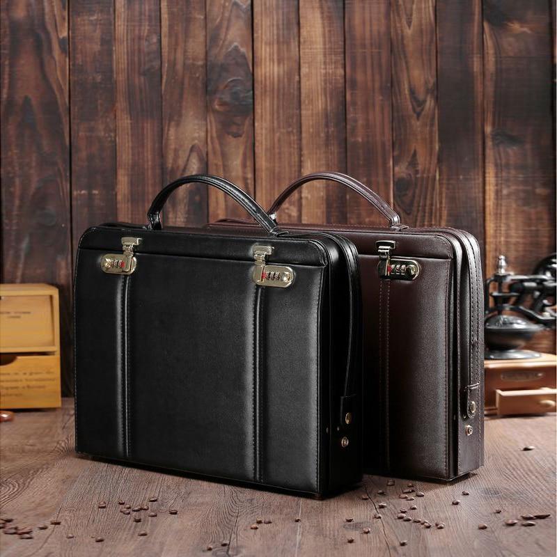 3855b13f37444 حقائب أداة حالة يد الأدوات الأمن المعدات حقيبة جلدية قفل حافظة ملفات  الأدوات 41.5 30.5 9 cm شحن مجاني