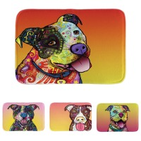Funny Pitbull Series Door Mats Colorful Pet Dog Indoor Outdoor Floor Mats  Custom Soft Lightness Bathroom