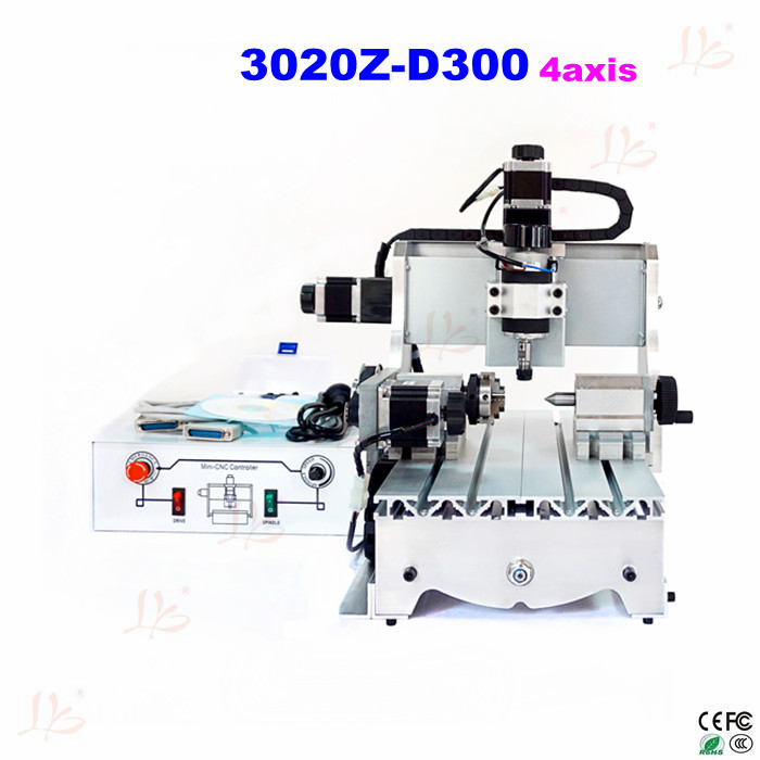 4 axis mini cnc milling machine 3020Z D300 cnc router good quality mini cnc 4 axis milling machine small cnc router with high speed