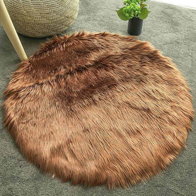 Alfombra de 60X60 cm alfombra lujo mullidas alfombras para silla sofá suelo  hogar comedor decoración lana dormitorio