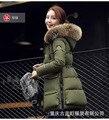 Barato por atacado 2016new casacos básicos das mulheres do Outono Inverno moda casual colarinho de lã Artificial além de grande tamanho para baixo casaco de algodão