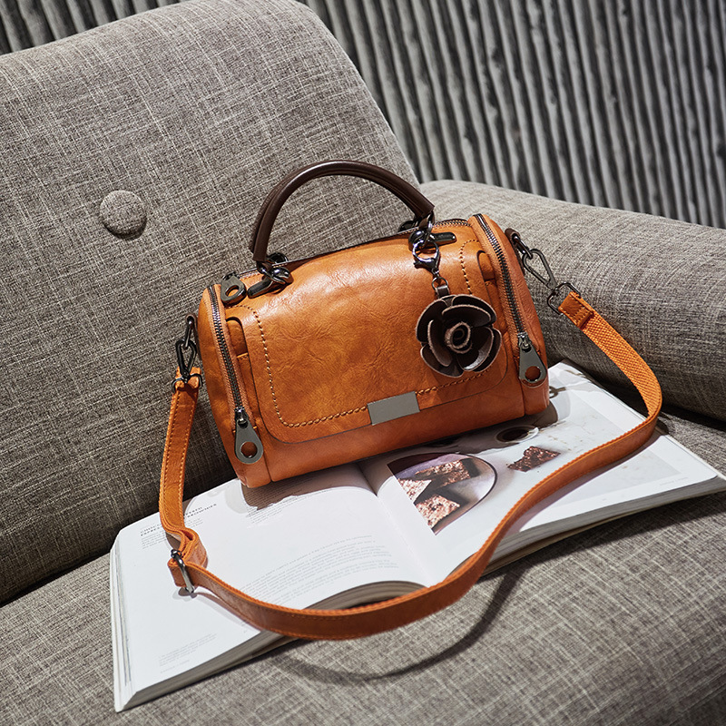2018 Women Genuine Leather Boston Handbags Design Crossbody Bag European & American Style Totes Classic Sac A Main Bolsos Mujer