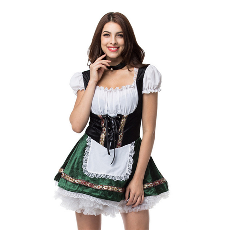 2018 new Sexy Women oktoberfest costume German Beer Girl Festival Dress Party Maid cosplay Dress French Maid clothing Halloween