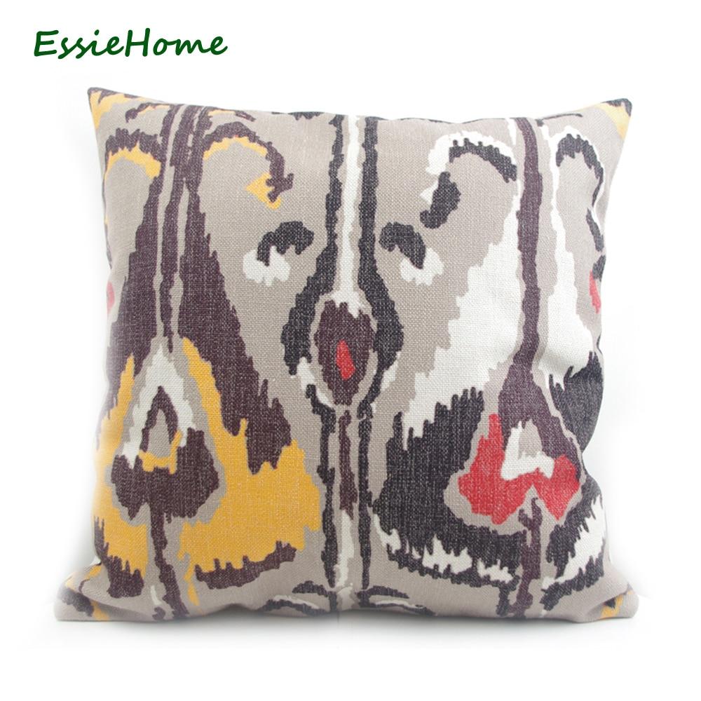 ESSIE HOME csúcsminőségű kézi nyomtatás világos bézs barna - Lakástextil