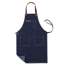 Купить с кэшбэком Hot Sale Women Men Fashion Cotton Canvas Apron Painting Denim Aprons High Quality Brand Uniforms Custom Logo Free Shipping