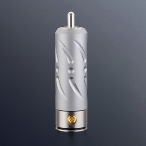 Image 2 - ויבורג אדום נחושת רודיום ציפוי Hi End RCA Plug 4 חתיכות