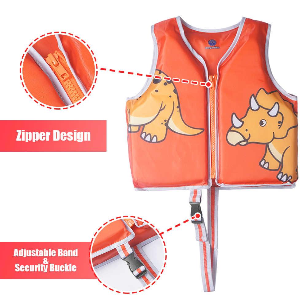 EraPinky Triceratops Dinosaur Life Vest for Kids Life Jacket Children Swim Vest Baby Swimming Trainer Water Pool Float Toddler