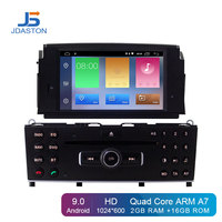 JDASTON Android 9.0 Car DVD Player For Mercedes Benz C200 C180 W204 2007 2010 1 Din Car Radio Multimedia GPS IPS WIFI Stereo RDS