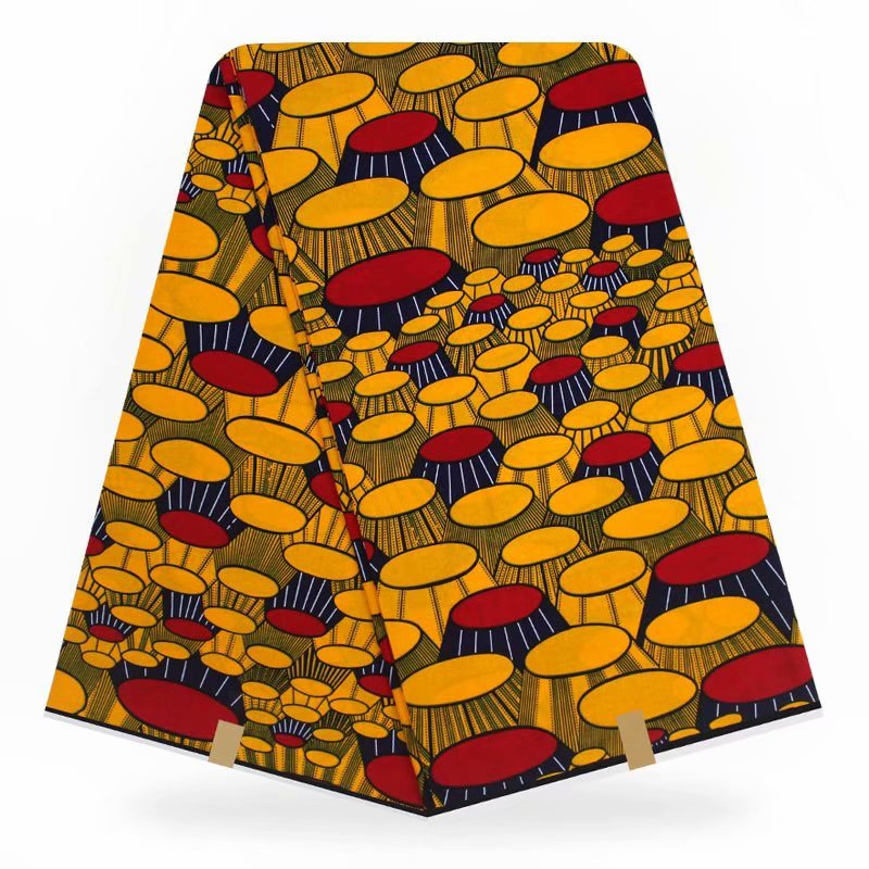 African 100% Polyester Wax Prints Fabric Ankara Wax Print Fabric Wax High Quality 6 Yards Africa Fabric For Party Dress Fp6105 Apparel Sewing & Fabric