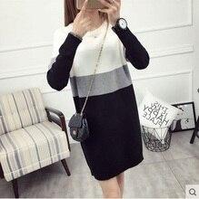 2019 נשים חורף בתוספת גודל סרוג סוודר נשי קשמיר סוודרים חם ארוך שרוול למשוך femme גדול