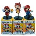 3 unids/set Super Mario Zapatillas Figura Volando Con Base de Japón Figura de Acción Del Anime Collection Modelo Niños Juguetes # F