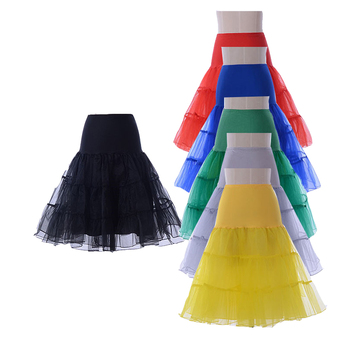 Free Shipping Short Organza Petticoat Crinoline Vintage Wedding Bridal for Dresses Underskirt Rockabilly Tutu - discount item  12% OFF Wedding Accessories