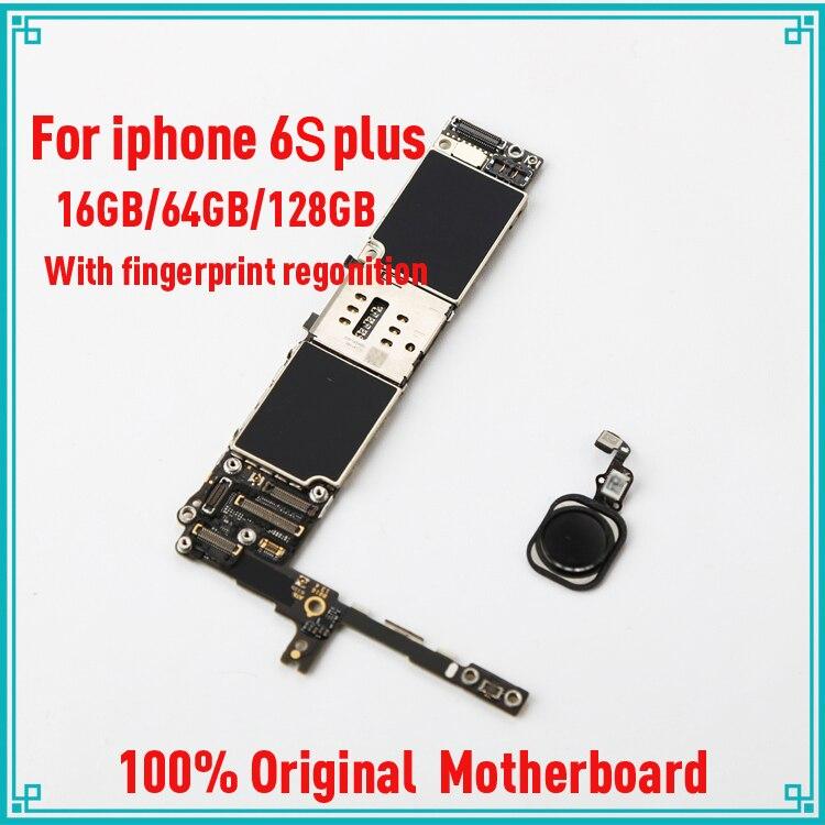 Pour iphone 6 S plus 5.5 pouces 16 gb/64 gb/128g or d'origine déverrouiller la carte mère avec empreintes digitales avec tactile ID IOS système carte logique