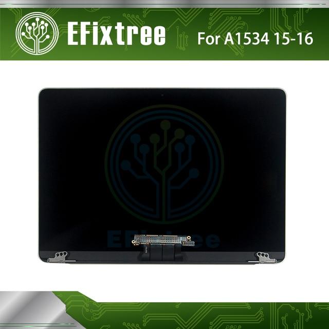 2017 2016 2015 A1534 LCD  Assembly Silver For Macbook Retina 12''Screen LED Screen Display S MC 2746 EMC 2991 Original 98% New