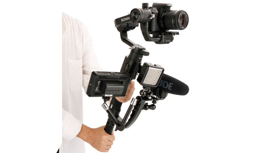Gimbal Accessories L Bracket Stand Handle Grip with Hot Shoe 1/4'' Screw for Zhiyun Crane 2/Plus/V2,Ronin S Stabilizer,Magic Arm 9