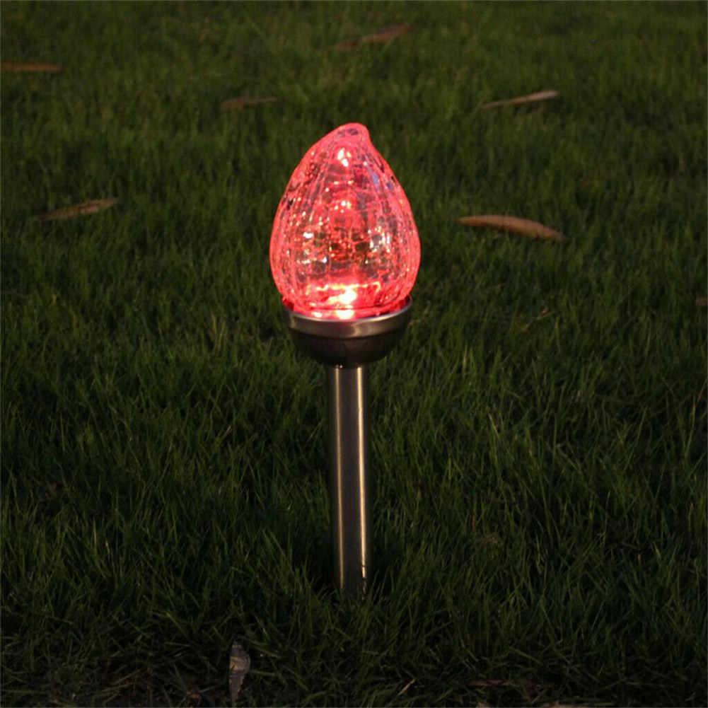 Солнечный СВЕТОДИОДНЫЙ Красочный Открытый Путь Свет точечная лампа сад Ландшафтные огни треснутый Газон Свет LAD-sale