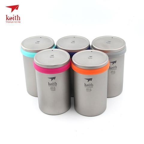 keith titanium cafeteira dupla murada de titanio isolado cafe cha pote com um filtro cestas