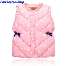 Baby Winter Vests Girls Lovely Waistcoats Kids Spring Warm Cotton Children Autumn Clothes Girl cute