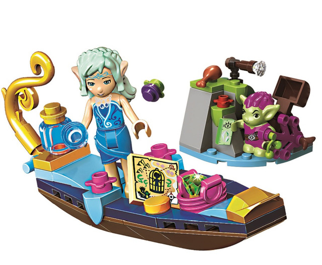New Elves Naida's Gondola & The Goblin Thief Building Blocks kids Bricks Educational toys 41181 Compatible with <font><b>Lego</b></font> Best Gift image