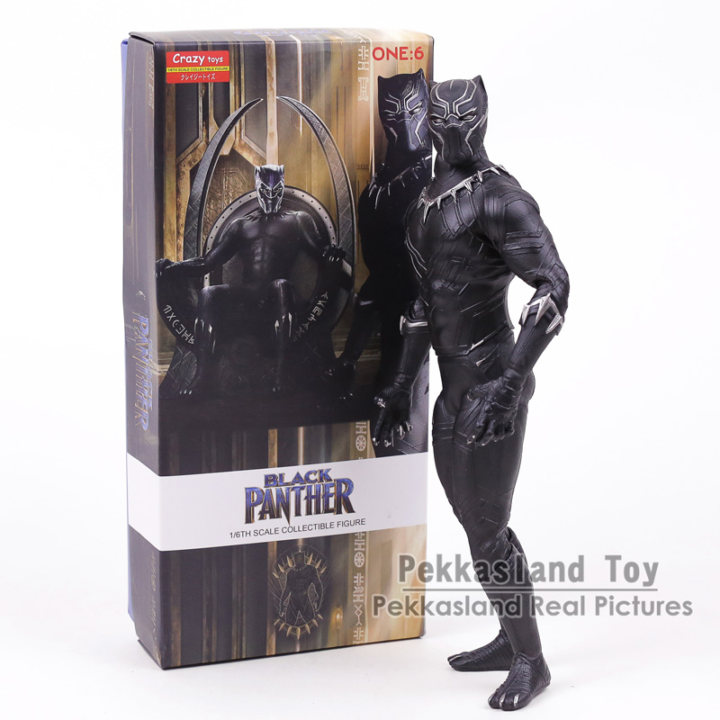 brinquedos loucos vingadores infinito guerra pantera negra 1 6 escala pvc figura collectible modelo brinquedo 12