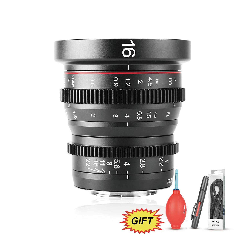 Meike MK 16mm T2 2 Manual Focus Aspherical Portrait Cine Lens for Micro Four Thirds MFT