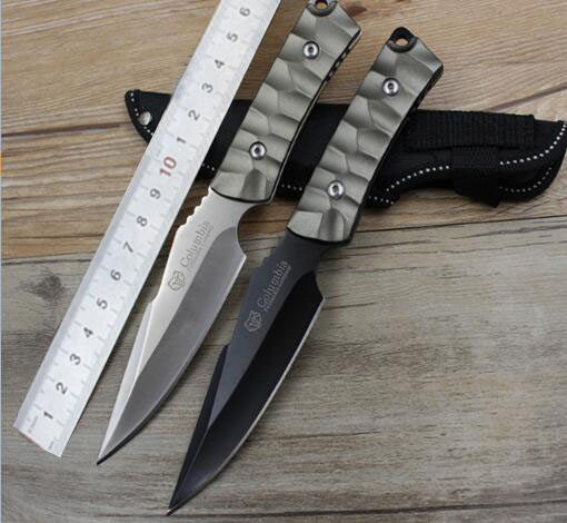 Fixed Blade Hunting font b Knife b font With 3Cr13Mov Blade aluminum Handle Pocket font b