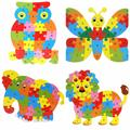 BOHS Wooden Animals English 26 Alphabetic Letter Jigsaw Puzzle Children 3-5-6 years old