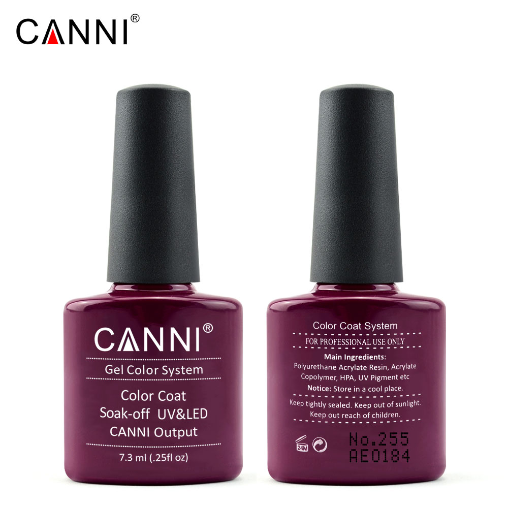 CANNI New Color Red Marsala Soak off UV Gel Nail Polish Wholesale ...