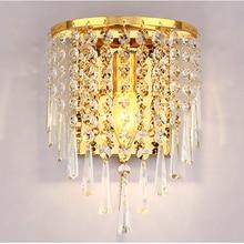 Modern Art High Grade K9 Crystal E14 LED Wall Lamp For Home Bedroom Living Room Decoration Indoor Lighting bathroom wall light