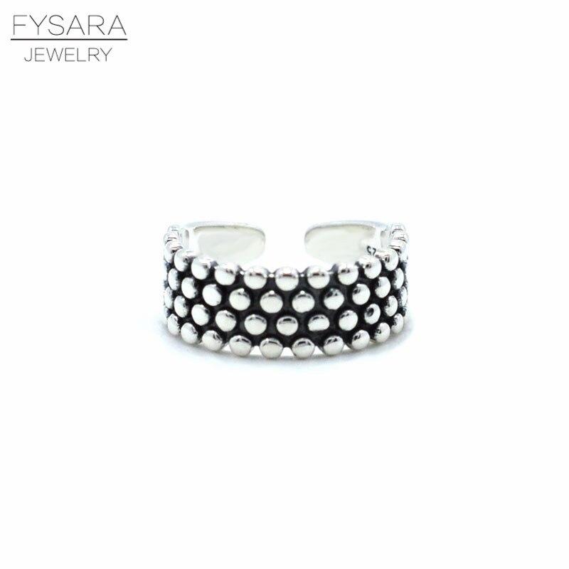 Rock Punk noir 925 Bague en argent pour femmes 7mm Vintage Bijoux mode anneaux blanc Anel Bijoux Bague pour bande de mariage Point rond