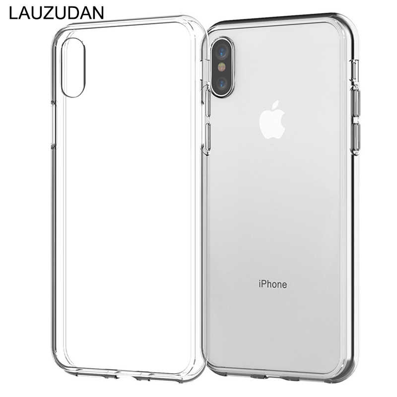 Funda transparente para teléfono para iPhone 7 funda para iPhone XR funda trasera suave de silicona para iPhone 11 Pro XS Max X 8 7 6 6s Plus 5 5S SE funda