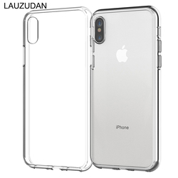 Прозрачный чехол для телефона для iPhone 7 Чехол для iPhone XR Мягкий силиконовый чехол прозрачная задняя крышка для iPhone 11 X XS Max 8 7 6s Plus 5S чехол