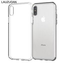 Прозрачный чехол для телефона чехол для iPhone 7 iPhone X Мягкий силиконовый чехол прозрачная задняя крышка для iPhone XR XS Max 8 7 6 6s Plus 5s чехол