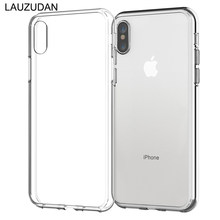 Phone Cases For iPhone 7 6 6s 8 X Plus 5 5s SE XR XS Case Soft Transparent Silicone Clear Case Back Cover For iPhone XS Max Case(China)