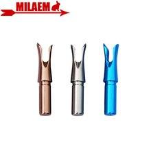 6/12 pcs Tiro Con Larco In Alluminio Spille Cocca Inserto In Lega Freccia Cocca ID 5.2 millimetri asta della Freccia di Caccia Allaperto di Tiro arco Freccia Accessori