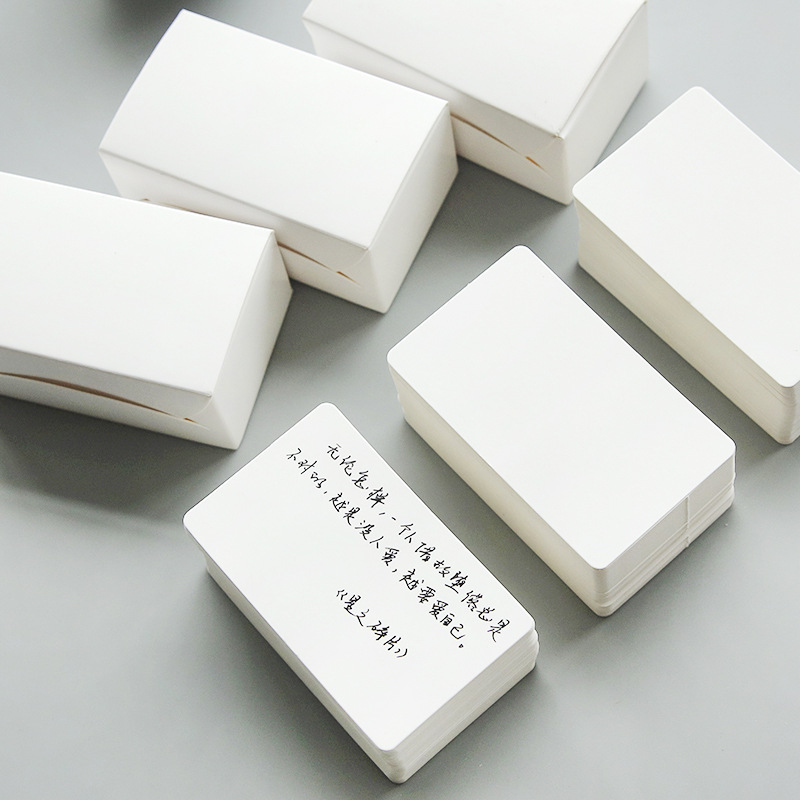 100 pcs/box 8.9*5.3cm Blank Kraft Paper White Black Color Message Card Notepad Memo Pads Bookmark Office Stationery
