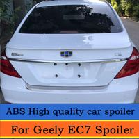 For Geely Emgrand 2008 to 2016 Spoiler High Quality ABS Material Car Rear Wing Primer Color Rear Spoiler For Geely EC7 Spoiler