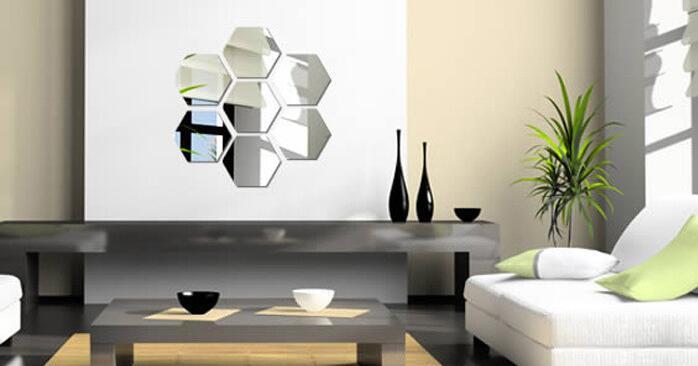 Diy Kamer Decoratie : Stks partij driedimensionale zeshoekige wanddecoratie acryl
